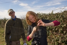 Jeremiah supervises a volunteer learning net extraction